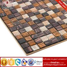 cheap mosaic tile brown mixed Hot - melt swimming pool tile mosaic