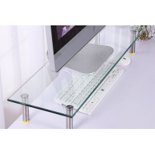 Ordinateur Table Glass Computer Desk Monitor Stand