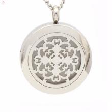 Moda oco filigrana medalhões jóias com interruptor magnético