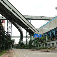Steelwork Material Handling Pipe Belt Conveyor/Tubular Belt Conveyor