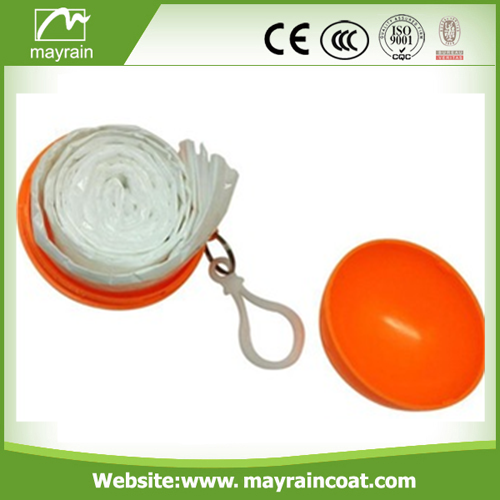 0.015 mm PE Poncho in Ball