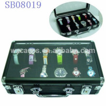 Luxus Aluminium 12 Uhrenboxen, Uhrengehäuse für Männer mit einem klaren zeigen Top Großverkauf, mit verschiedenen Farben-option