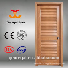 Painted solid wood louvered interior doors