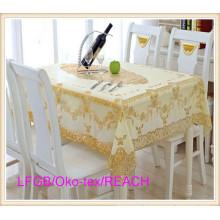 Golden PVC Lace Tablecloth