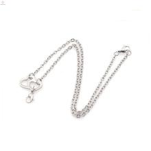Kostenlose Probe Silber Halskette Ketten Bulk, Sunisexgeschenk Edelstahl Halskette Kette