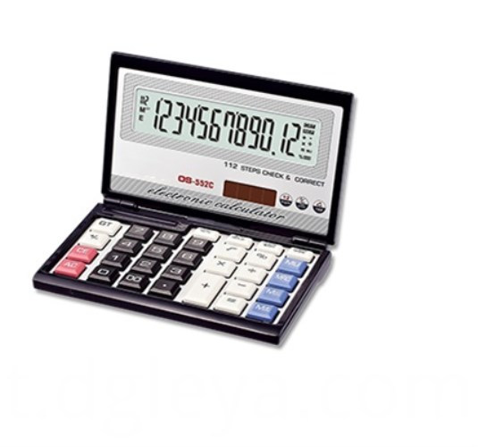 Fold Desktop Electronic Calculator