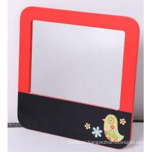 Tablón de anuncios de madera con espejo para niños Decoración