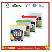 Schule Mini Highligter Marker in PVC Tasche