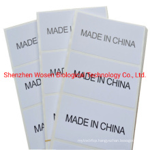 Sticker Label of Origin Made in China Label Sticker