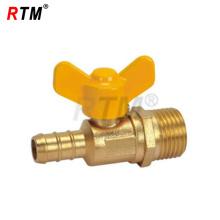 male thread butterfly brass gas valve