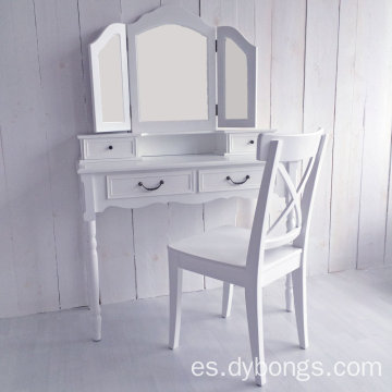 New design Portable Vanity White Wholesale Wooden Dressing Makeup Table