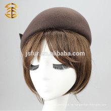 2015 heißer hochwertiger eleganter Frauen 100% Wolle Fedora Hut