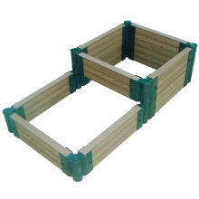Easy Installation Interlocking Composite Flower Box DIY WPC Garden Outdoor Planter Pots