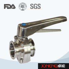 Stainless Steel Handle Clamped Food Grade Butterfly Valve (JN-BV2002)