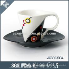 180CC porcelaine ovale tasse à café et soucoupe, nouveau design ensemble de tasse, petit ensemble de tasse