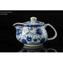 500cc pot Rose teapot de cerâmica com inserto inoxidável