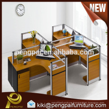 American new arrival 4 persons office partition design