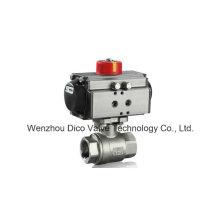 Válvula de esfera de aço inoxidável do atuador do controle pneumático para o tratamento da água