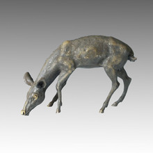 Animal Large Brass Statue Deer Bronze Garden Sculpture Tpal-056