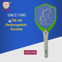 Swatter de insectos de alta tensión y alta calidad con cepillo de limpieza