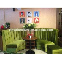 Fan-shaped restaurant booth sofa furniture XYN105