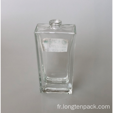 Bouteille de verre rectangle4 55ml