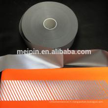 Film de transfert de chaleur réfléchi de haute qualité pour faire des rayures diagonales réfléchissantes pour le gilet de sécurité
