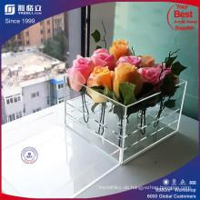 Kundenspezifische Fabrik Clear Acryl Rose Box mit Deckel