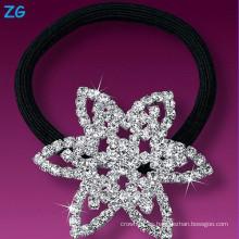 Luxurious completa de cristal damas nupcial pelo banda, rhinestone star boda diadema, francés pelo banda