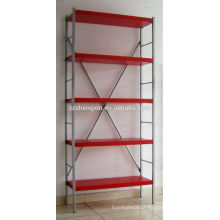Red Metal Rack Five Layers para venda