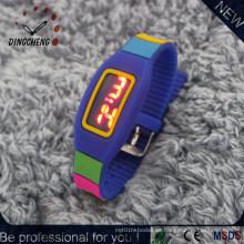 Reloj de pulsera de relojes LED de silicona (DC-2149)