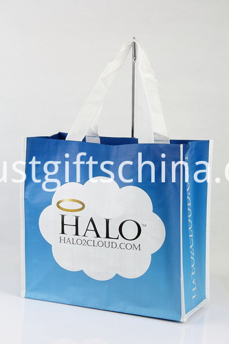 Promotional PP Woven Shopping Bags w Polyester Handles