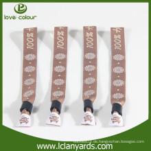 Gewebe benutzerdefinierte gewebte Polyester Wristband für Sport