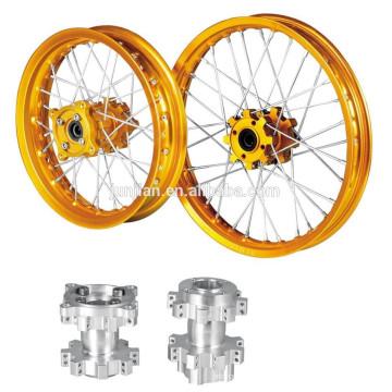 China magnífica hecha de ejes de rueda de radios motos aluminio de aleación CNC para motos de motocross KTM