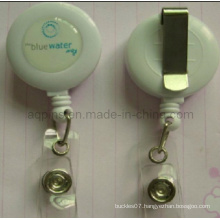 White Badge Reel with Stationary Type