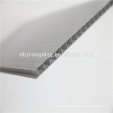 Hoja hueca de policarbonato de pared gemela de 6 mm / Hoja de sol de policarbonato gris