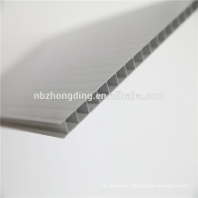 6mm twin wall polycarbonate hollow sheet/Grey polycarbonate sun sheet