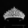 Silber Indische Hochzeitskrone Edle Strass Kristall Prinzessin Königin Braut Ballett Tiara für Frauen