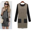 Heißer verkauf mode elegante damen plus size dress (50015)