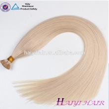 Nouvelle Arrivée Non Transformés Usine Prix Top Qualité I Astuce Kératine Vierge Remy Brésilienne de Cheveux Humains