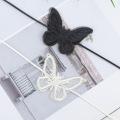 Черно-белое кружево бабочка Чокер Кубок короткое ожерелье для девочек, женщин