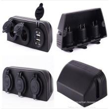 3 Marine Cigarette Lighter Splitter Power Adaptor Sockets / USB Charger Cigarette Lighter