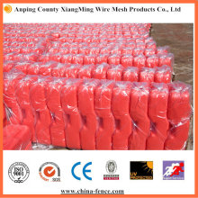 Base en PVC rouge utilisée pour la clôture temporaire