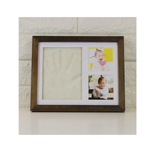 Amazon Best Sellers 9x11 white wood diy art newborn Nursery Memory shower gifts Baby Handprint Kit Baby Footprint kit