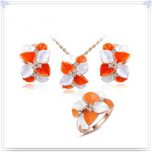Jóia de cristal jóias de moda conjunto liga de jóias (ajs178)
