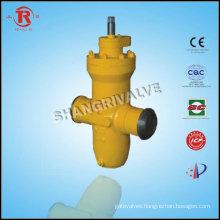 Underground gas welded gate valve