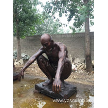 Life Size Bronze Nude Man Statue For Sale