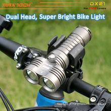 Maxtoch DX21 2pcs U2 diodo emissor de luz brilhante CREE inteligente de baixo peso bicicleta LED luz