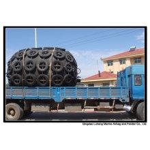 Diâmetro 2500mm x comprimento 4000mm pneumático Fender