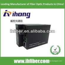 10 / 100M Fibra Óptica Media Converter singlemode única fibra SC porta 20 km